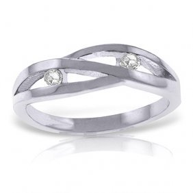 Platinum Plated Sterling Silver Ring Withnatural Channe