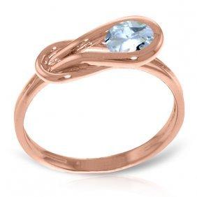 14k Rose Gold Don't Stop Breathing Aquamarine Ring