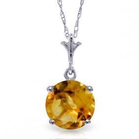 14k White Gold Speak To My Heart Citrine Necklace