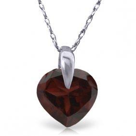 14k White Gold Sequel Garnet Necklace