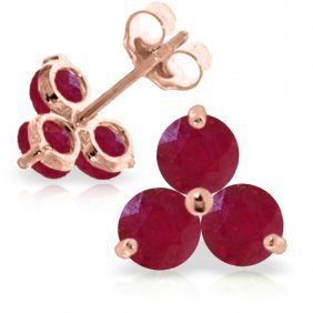 14k Rose Gold Joelle Ruby Stud Earrings