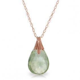 14k Rose Gold Disguise Green Amethyst Necklace