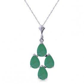 14k White Gold Magnanimity Emerald Necklace