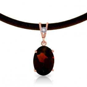 14k Rose Gold Gratitude Garnet Diamond Necklace