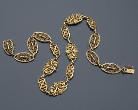 French Neoclassical Style Necklace In 18k Gold