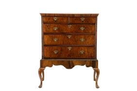 Queen Anne Walnut Chest On Stand, 18th C