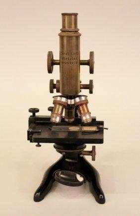 An Ernst Leitz Wetzlar Microscope.