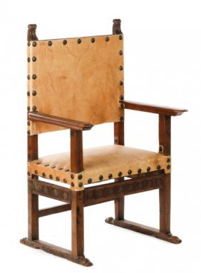 Spanish Colonial Period Friars Or Monk Chair