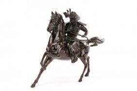 Samurai Kusunoki Masashige On Horseback, Bronze