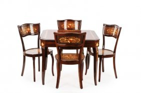 Notturno Intarsio Marquetry Inlaid Games Table Set