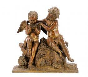 Continental Bacchanalian Putti, Bronze, 19th C.
