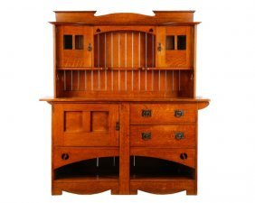 Arts & Crafts Sideboard Hutch, Liberty & Co (attr)