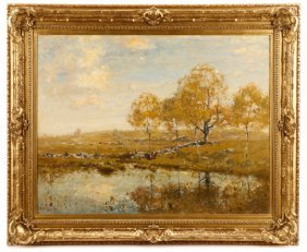 Henry Ranger Signed Oil, Connecticut Landscape