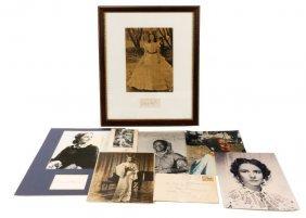 Collection Of Gwtw Autographed Ephemera