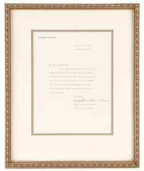 Margaret Mitchell Signed 1939 Personal Letter