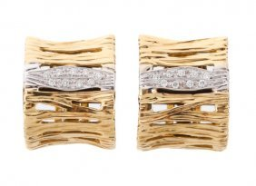 Roberto Coin 18k Yellow Gold Elephant Earrings