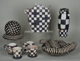 Memphis Style Ceramic Accessories Incl. De Lavall