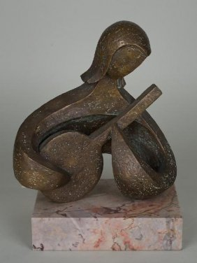 Bronze Sculpture By Trude Mueller (20th C.)
