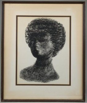 Litho In The Manner Of Alberto Giacometti (20th C