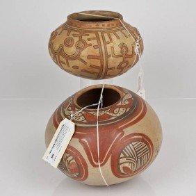 (2) Costa Rican/Nicoya Polychromed Ceramic Bowls