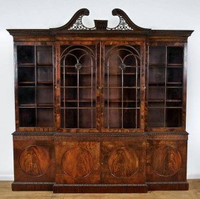 Good George III Mahogany Breakfront Bookcase