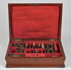Victorian Steeplechase Game In Mahogany Case