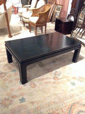 Decorator Gilt Green Lacquer Coffee Table
