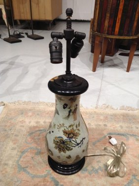 Chinoiserie Decoupage Table Lamp