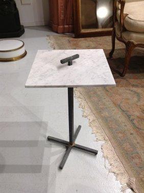 Italian Modern Marble Top Side Table
