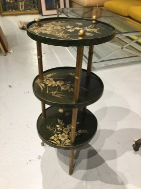 Chinoiserie 3-tier Occasional Table