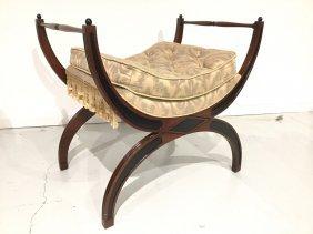 Regency Style Curule Bench