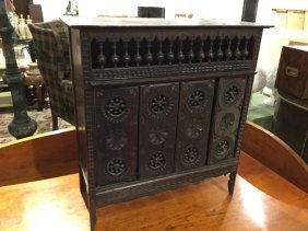 Miniature Carved Wood Brittany Cupboard