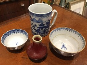 Group Chinese Export Blue And White Porcelain