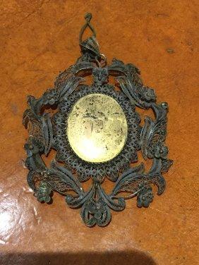 Judaic Silver Filigree Medallion