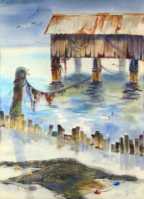 Diane Peck Peters, (american, 20th Century), Landscape,