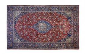 An Isfahan Wool Rug