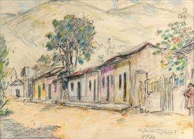 Carlos Otero, (20th Century), Sketch Of A House, 1970,
