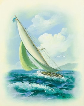 Artist Unknown, (20th Century), Boat, Oil On Canvas, H
