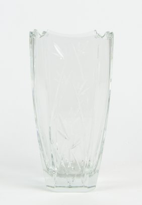 A Large Waterford Crystal 'bamboo Collection' Vase