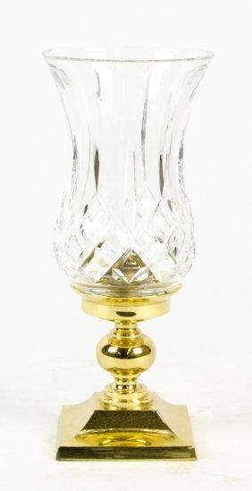 A Waterford Crystal Lismore Hurricane Lamp