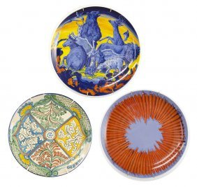 A Group Of Three Collector's Porcelain Plates