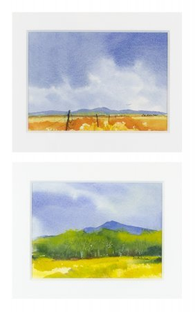 Two Watercolor Landscapes, 2004