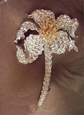 Vintage Designer Nolan Miller Flower Brooch