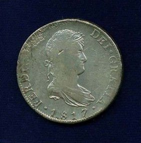 Spanish Colonial Ferdinand Vii Silver Reales Coin