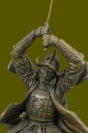 Samurai Warrior Bronze Statue