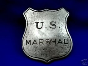Vintage Pewter Old Western Movie Set Marshal Badge
