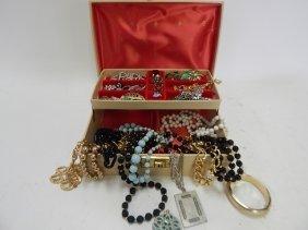 Costume Jewelry With Box
