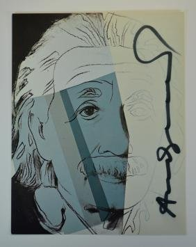 Andy Warhol Jews Of The 20th C Signed Card