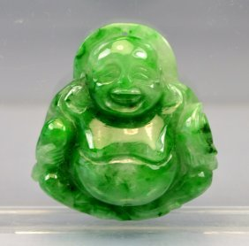 Chinese Certified Top Certified Green Carved Jade