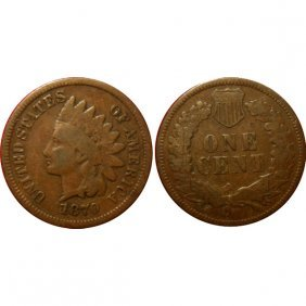 1870 Indian Head Cent - Vg